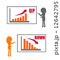 説明 グラフ 女性のイラスト 12642795