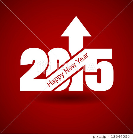 Happy New Year with arrow up 12644036