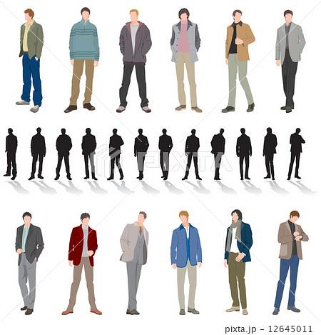 男性ファッションのイラスト素材 12645011 Pixta