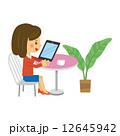 タブレット ベクター 観葉植物のイラスト 12645942