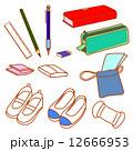筆記用具 上靴 教育のイラスト 12666953