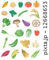 タマネギ 人参 野菜のイラスト 12668653