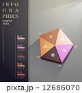 3D のぼり アブストラクトのイラスト 12686070
