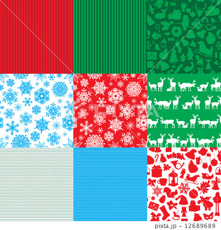 different set of christmas backgrounds のイラスト素材 [12689689] - PIXTA