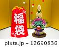 門松 福袋 金屏風の写真 12690836