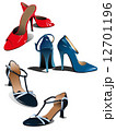 Three pairs of fashion woman shoes. Vector illustration 12701196