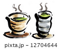 煎茶 お茶 日本茶のイラスト 12704644