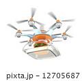 ドローンによるハンバーガー外食の配送 12705687