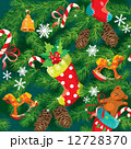 X-mas and New Year background with Christmas accessories, stocki 12728370