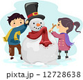 Kids Making a Snowman 12728638
