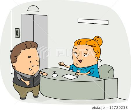 receptionist illustrations pixta