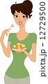 パンケーキ ホットケーキ 女性のイラスト 12729500