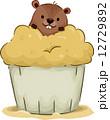 ケーキ グラウンドホッグ カップケーキのイラスト 12729892