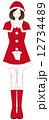 サンタクロース お辞儀 女性のイラスト 12734489