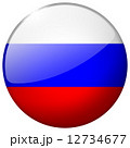 Russia Round Glass Button 12734677