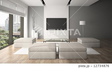Modern interior in minimalism style 3d rendering - Escaleras de interior de obra ...