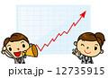 上がる グラフ ベクターのイラスト 12735915