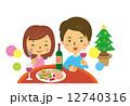 男女 ベクター クリスマスのイラスト 12740316