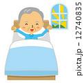 起床 ベッド 爽やか 起きる 目覚める 12740835
