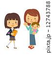 育児 子育て 母親のイラスト 12743788