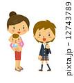 育児 子育て 母親のイラスト 12743789