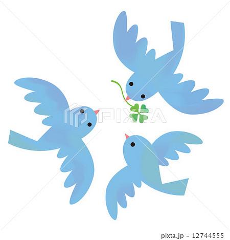 青い鳥とクローバー 12744555
