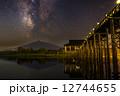 星夜の津軽富士 12744655