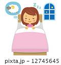 女性 快眠 就寝 12745645