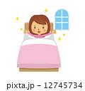 起床 女性 目覚め 起きる 12745734