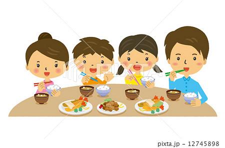 家族 夕食 食事 夕飯 料理 晩御飯 12745898