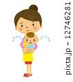 ベクター ママ 赤ちゃんのイラスト 12746281