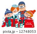 クリスマス ショッピング ファミリー 12748053