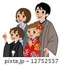 ベクター 着物 子供のイラスト 12752537