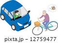 自転車の危険運転 12759477