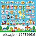 先生 子供 動物のイラスト 12759936