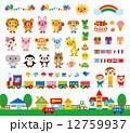 先生 子供 動物のイラスト 12759937