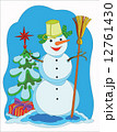 Snowman the Christmas tree 12761430