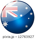 Australia Round Glass Button 12763927