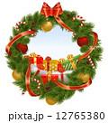 クリスマス クリスマスリース リースのイラスト 12765380