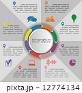Circle infographic timeline element layout. Vector 12774134