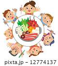 鍋 ベクター 親子のイラスト 12774137
