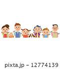 ベクター 家族 親子のイラスト 12774139