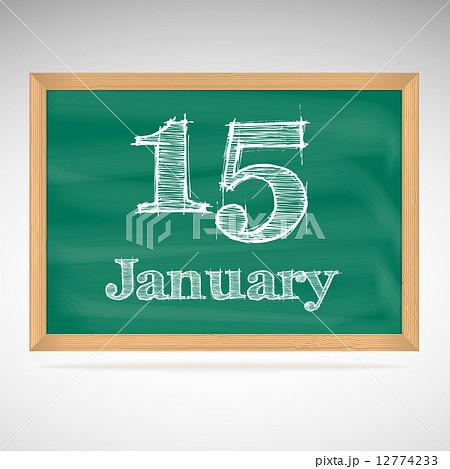 January 15, inscription in chalk on a blackboardのイラスト素材 [12774233] - PIXTA