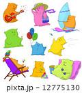 休息 くま クマのイラスト 12775130