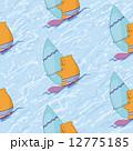 海 シームレス 波のイラスト 12775185