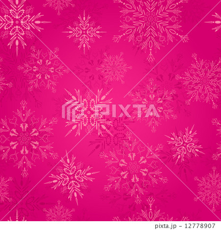 Seamless Pattern with Christmas Snowflakes 12778907