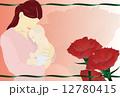 ポストカード 母子 カーネーションのイラスト 12780415