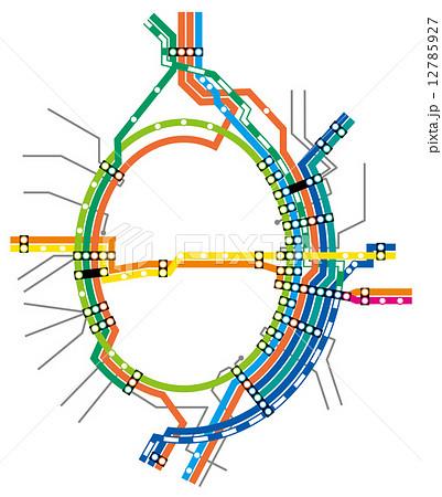 鉄道路線図首都圏012015のイラスト素材 12785927 Pixta