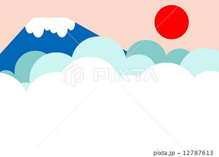 2016年賀状 富士山のイラスト素材 12787613 Pixta