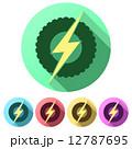 電光 稲光 雷光のイラスト 12787695